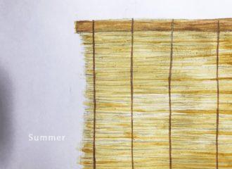 簾 イラストレーション