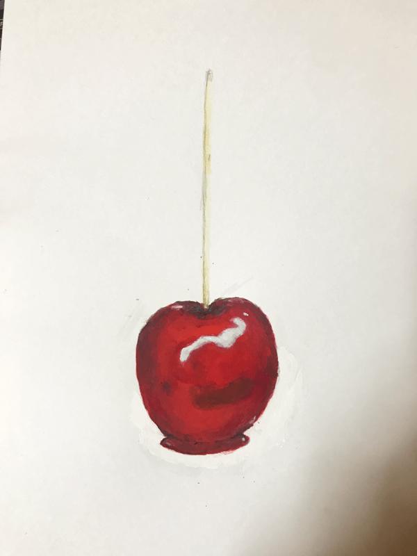 りんご飴 イラストレーション