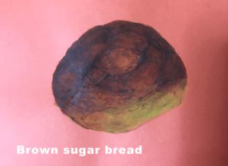 黒糖パン イラスト