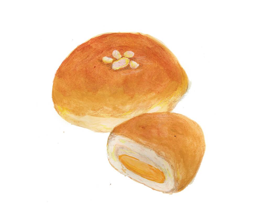 クリームパン イラスト