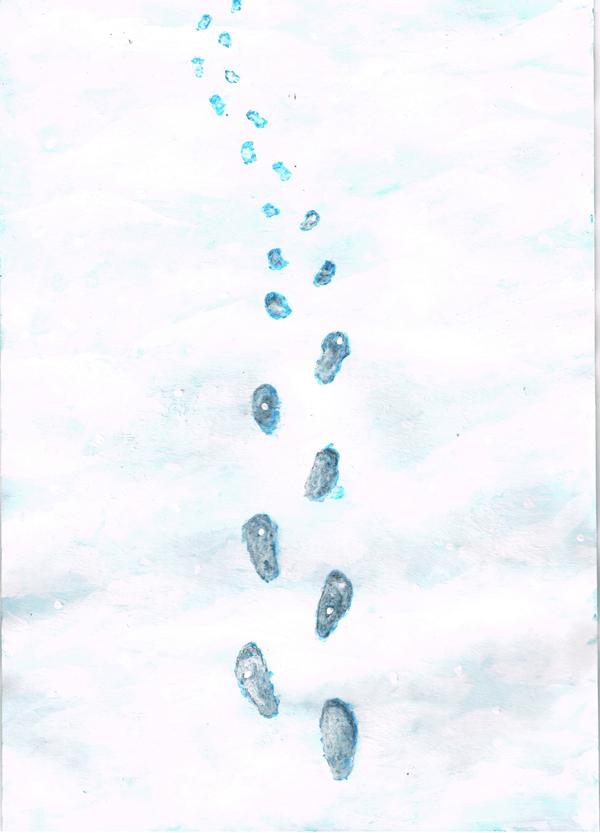 雪 足跡 イラスト