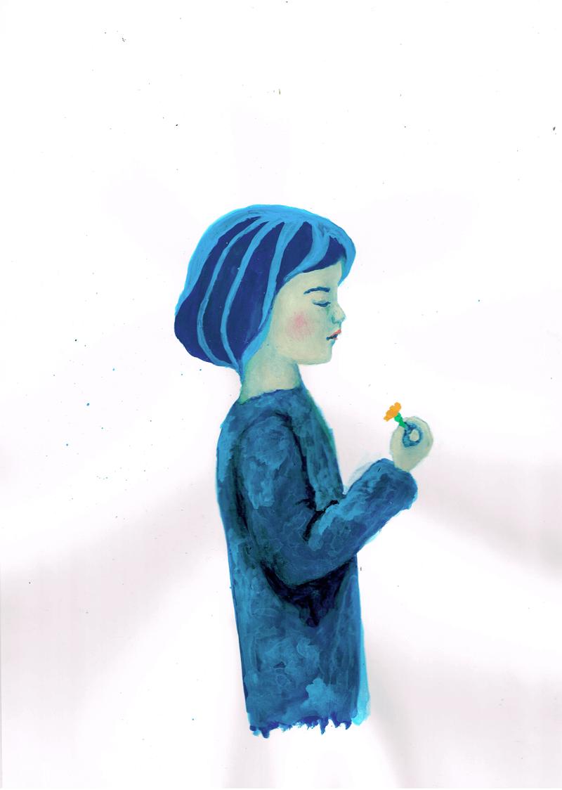 少女 イラストレーション