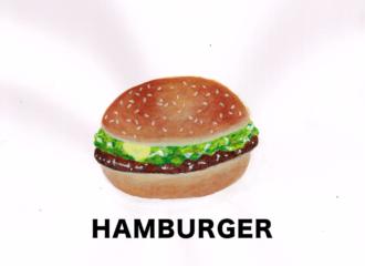 ハンバーガー イラスト