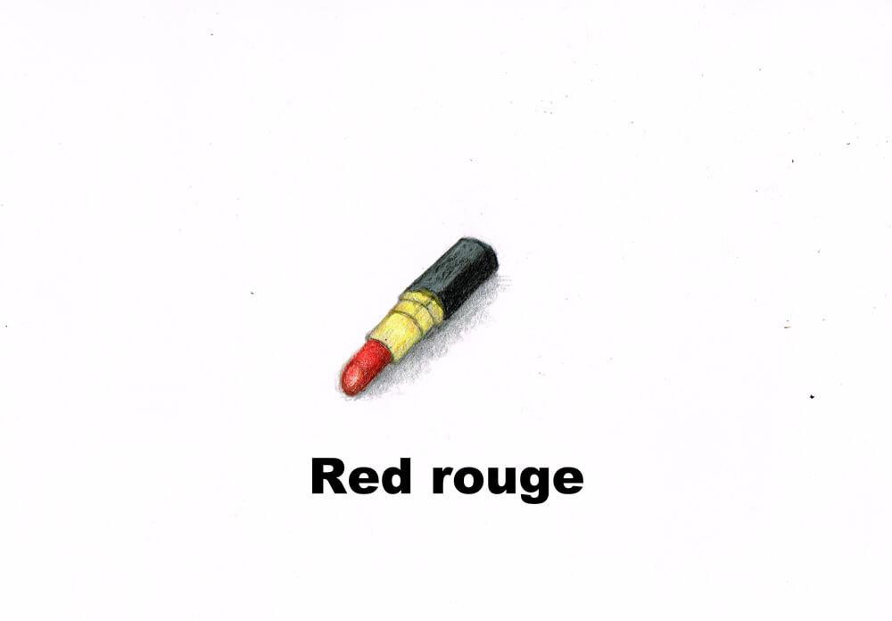 赤い口紅 イラスト