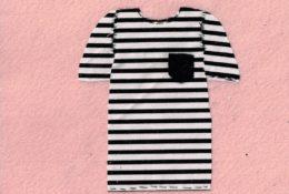 ボーダーTシャツ 裁縫 クラフト