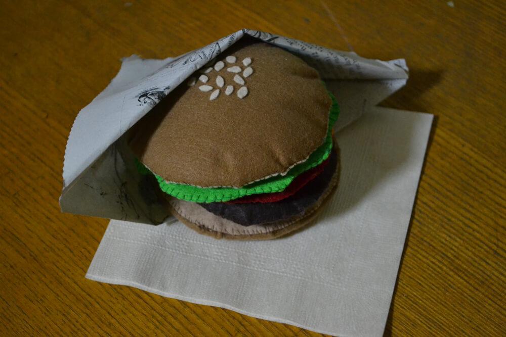 ハンバーガー 裁縫 クラフト