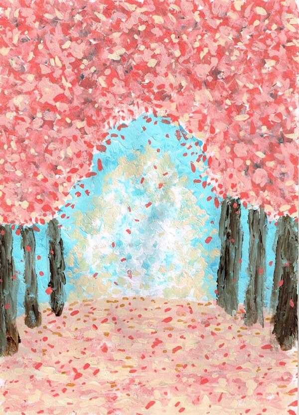 桜 街路樹 イラスト