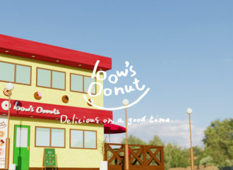 bow's Donuts 外観 3dモデリング