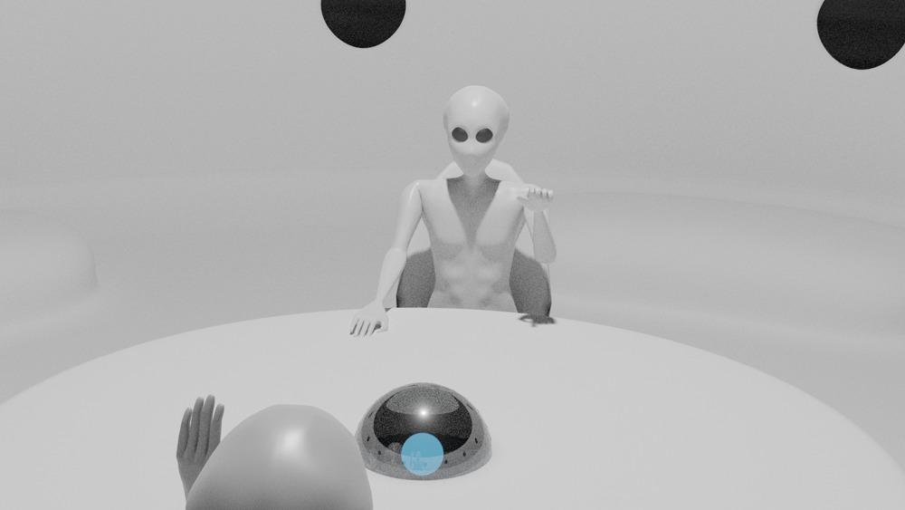 宇宙人 3dモデリング