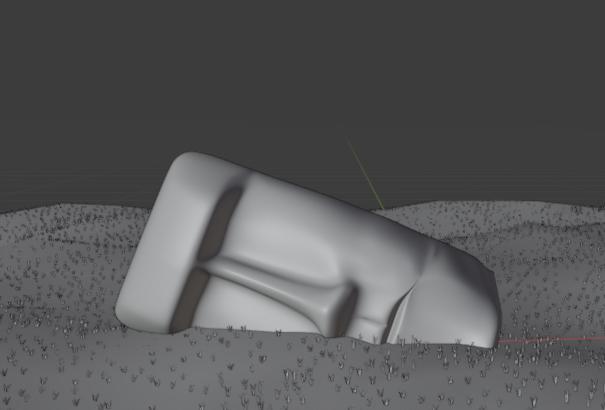 イラスト モアイ3d モデリング